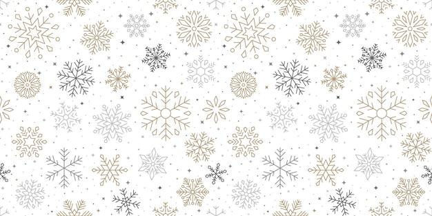 Motif de flocon de neige, fond de noël et bonne année