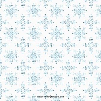 Motif de flocons de neige avec des fleurs