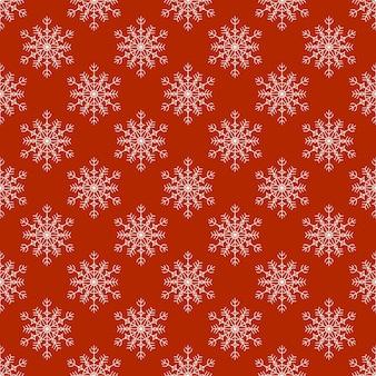 Un motif de flocons de neige sur un fond en terre cuite dans un style linéaire. illustration vectorielle.