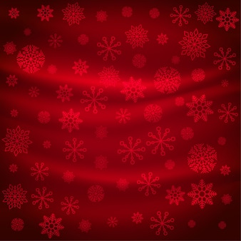 Motif de flocons de neige rouge