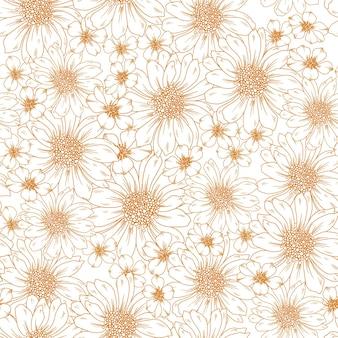 Motif de floraison de tournesol d'automne