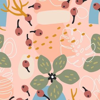 Motif floral abstrait créatif