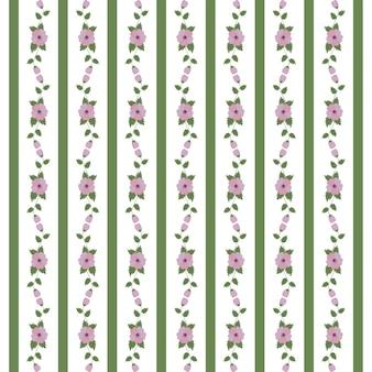 Motif floral abstrait de rubans