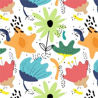Motif floral abstrait
