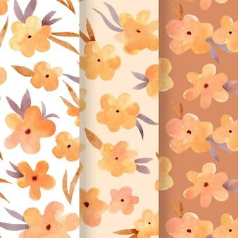 Motif floral aquarelle abstrait