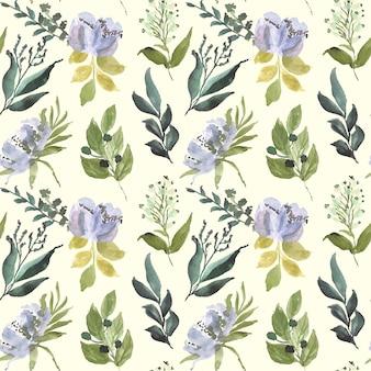 Motif floral aquarelle