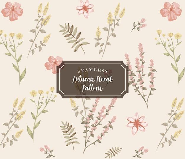 Motif floral d'automne sans soudure