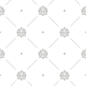 Motif floral baroque damassé fond vectorielle continue