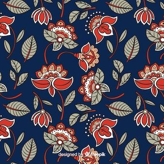 Motif floral batik