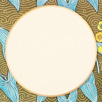 Motif floral de cadre ornemental vintage