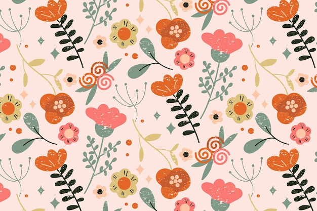 Motif floral coloré