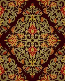 Motif floral coloré.