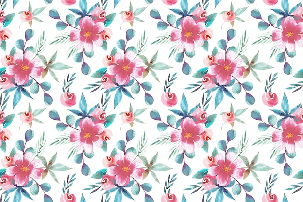 Motif floral de conception aquarelle