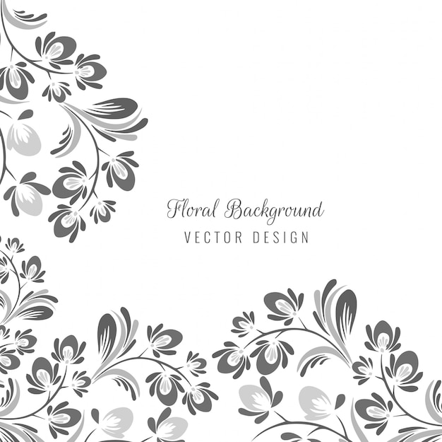Motif floral décoratif sans soudure ornemental