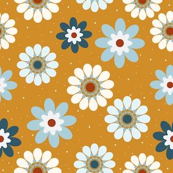 Motif floral dessiné sans couture main vintage