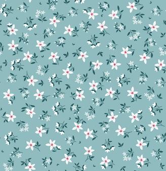 Motif floral élégant en petites fleurs blanches fond transparent pour l'impression de mode impression ditsy