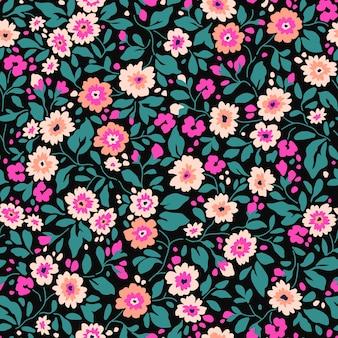 Motif floral élégant en petites fleurs colorées fond transparent pour l'impression de mode