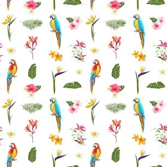 Motif floral d'été sans couture tropicale. pour les fonds d'écran, les arrière-plans, les textures, les textiles, les cartes.