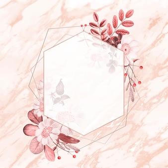 Motif floral d'été de vecteur de cadre vintage