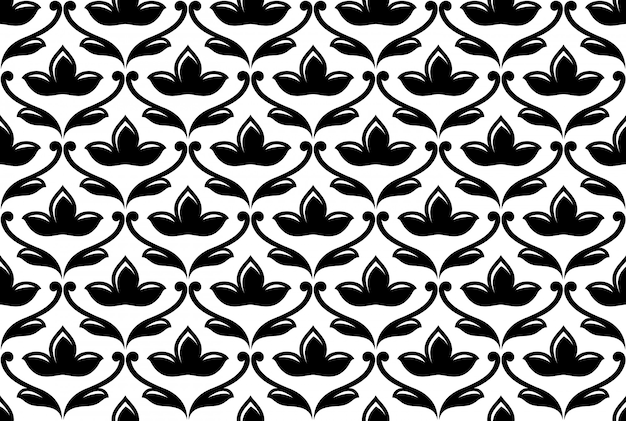 Motif floral ethnique homogène
