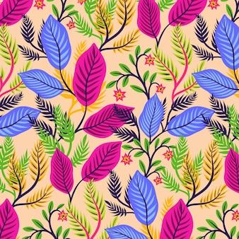 Motif floral exotique coloré