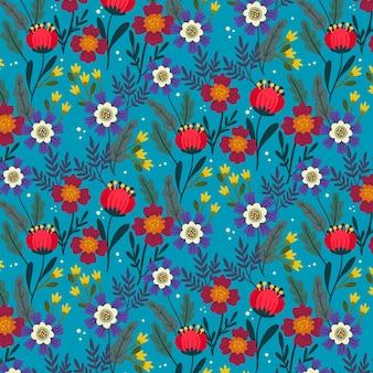 Motif floral exotique créatif