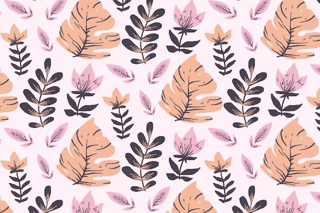 Motif floral avec des feuilles