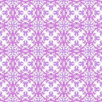 Motif floral. fond d'écran baroque, damassé. arrière-plan vectorielle continue. ornement rose, violet et blanc