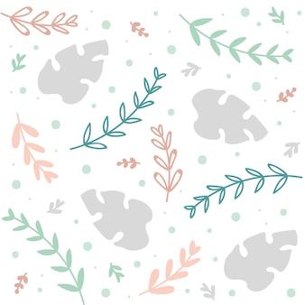 Motif floral de fond ou d'été