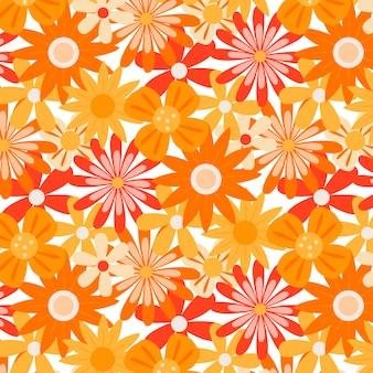 Motif floral groovy