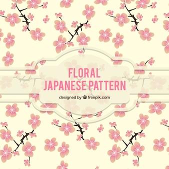 Motif floral japonais