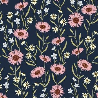 Motif floral little daisy ditsy