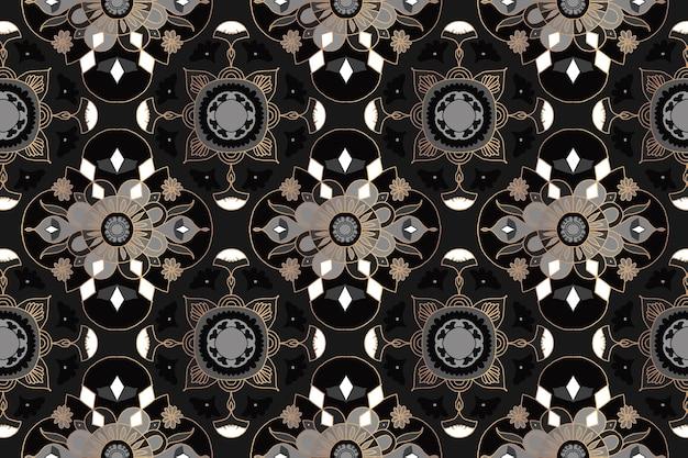 Motif floral mandala oriental