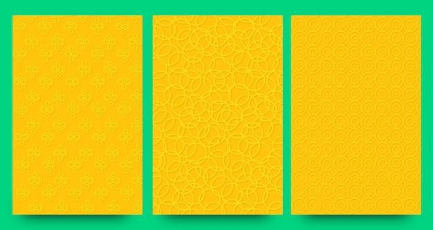 Motif floral moderne abstrait