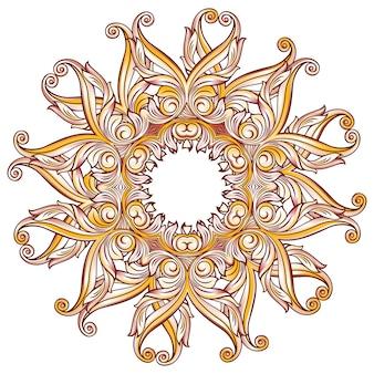 Motif floral orné sur blanc