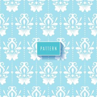 Motif floral ornemental avec clor bleu clair