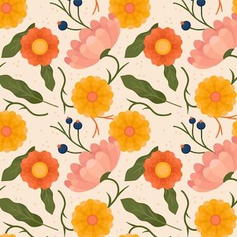 Motif floral pastel