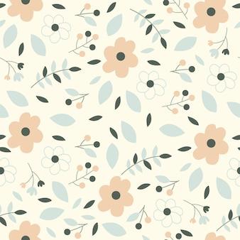 Motif floral de printemps sans couture de fleur