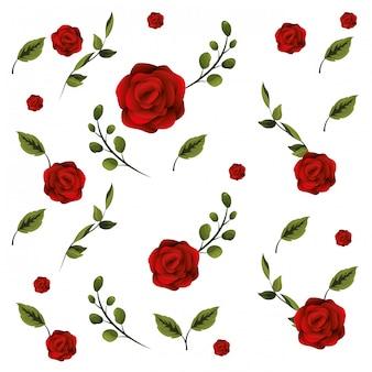 Motif floral avec des roses