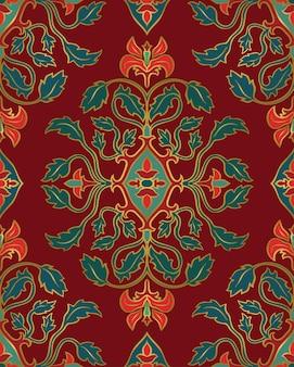 Motif floral rouge.