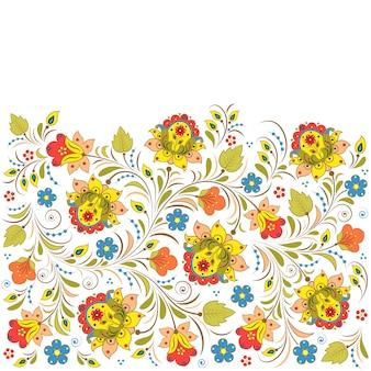 Motif floral russe traditionnel