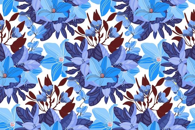 Motif floral sans couture d'art.