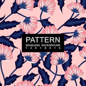 Motif floral sans couture bleu et rose
