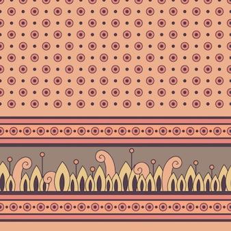 Motif floral sans couture avec bordure décorative