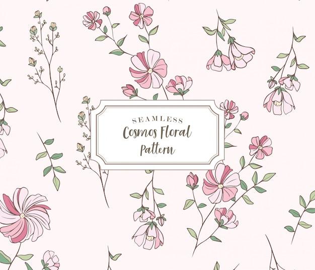 Motif floral sans couture cosmos