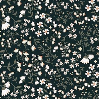 Motif floral sans couture dasy