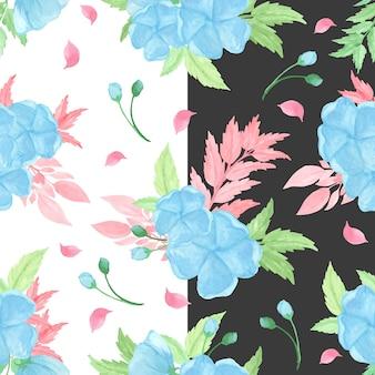 Motif floral sans couture avec fleurs bleues