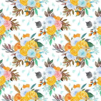 Motif floral sans couture avec fleurs colorées