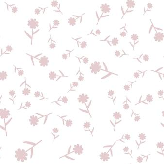 Motif floral sans couture avec des fleurs de couleur dessin animé mignon, dessin vectoriel original doodle