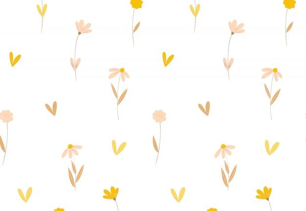 Motif floral. sans couture avec des fleurs pour des impressions de mode ou du papier peint.